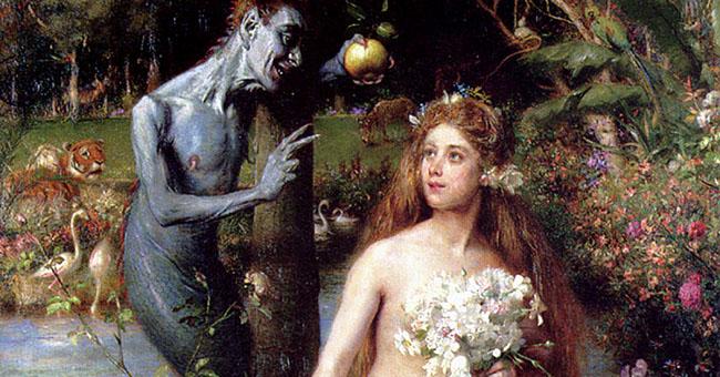 "Pierre Jean van der Ouderaa (1841-1915), ""Temptation"""
