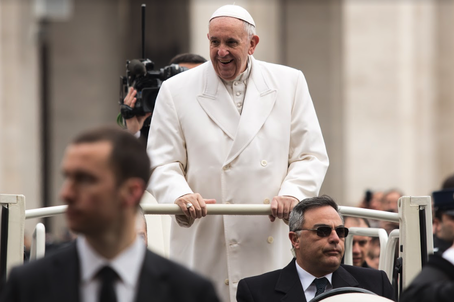Pope Francis arriving at his weekly general audience at the Vatican, Feb. 22, 2016.