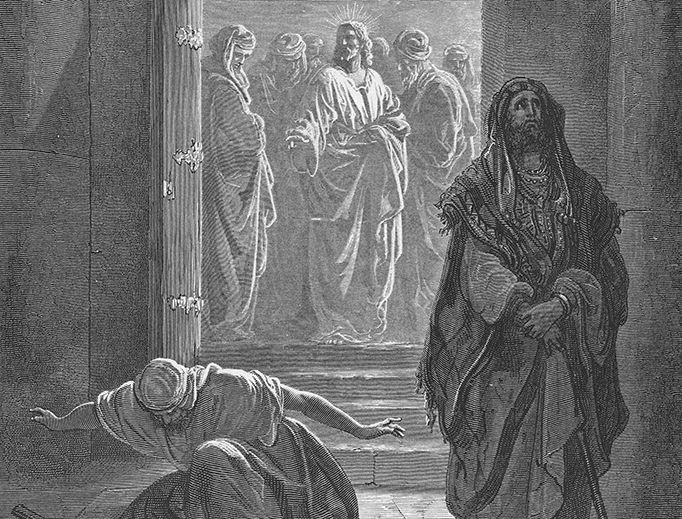 """Gustav Doré (1832-1883), """"The Pharisee and the Publican"""""""
