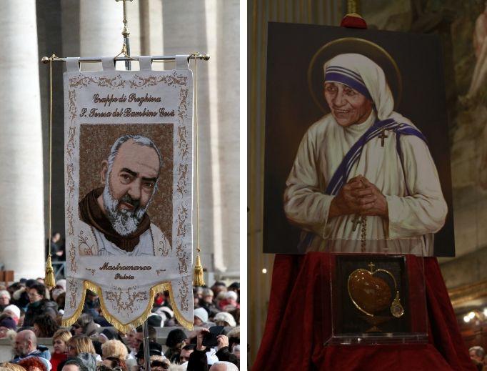 St. Pio and Teresa of Calcutta inspire devotion to the Eucharist within the domestic church.