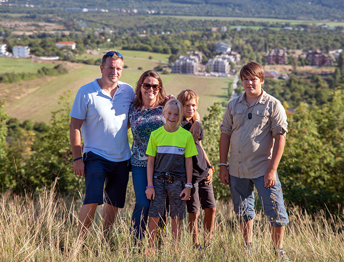 Hungarian Minister of State for Family Katalin Novak and family
