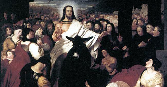 """Benjamin Haydon (1786-1846), """"Christ's Entry Into Jerusalem"""""""