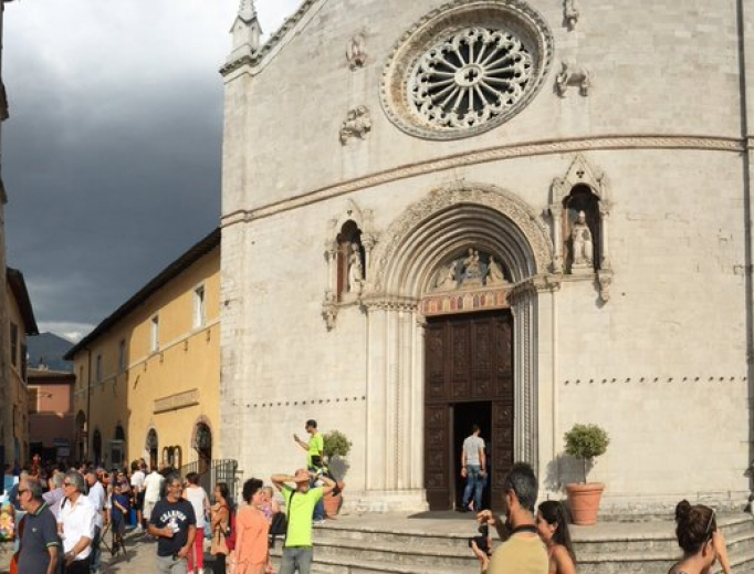 Basilica of St. Benedict before the earthquakes.
