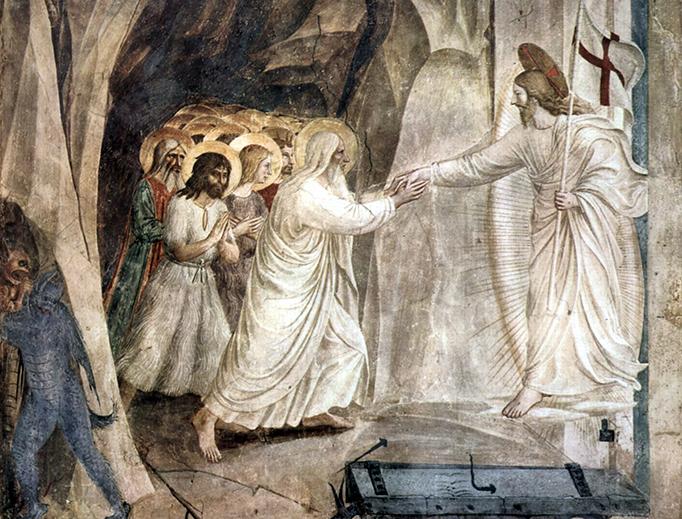 "Fra Angelico, ""Christ in Limbo,"" 1441"