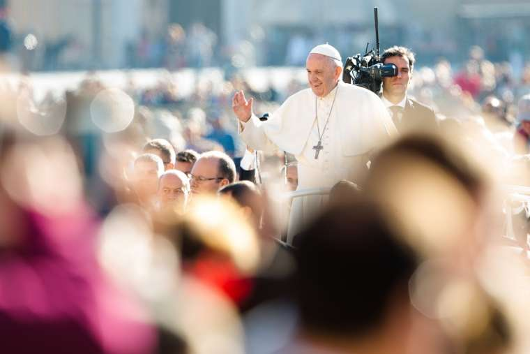 Pope Francis at the general audience Oct. 11, 2017.