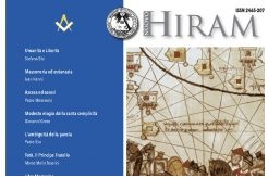Detail of the cover Nuovo Hiram, an the Italian magazine of Freemasonry.