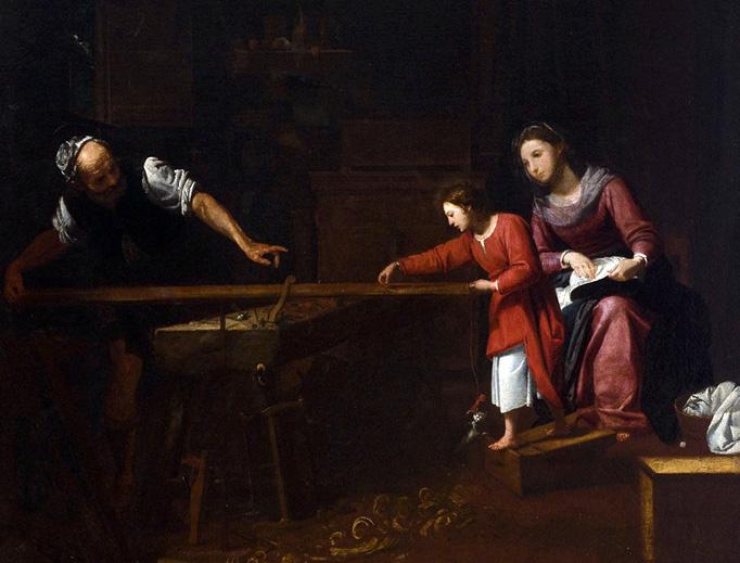 "Matteo Pagano, ""Christ in Joseph's Workshop"" (c. 1610-1625)"