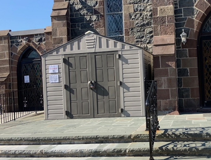 Father Daniel O'Mullane's confession shed in Boonton.