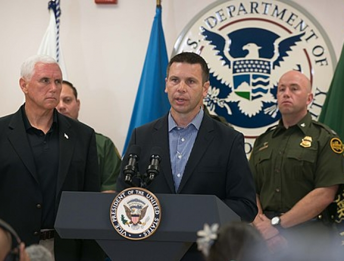 Vice President Mike Pence, Acting Homeland Security Secretary Kevin McAleenan and a congressional delegation visit Customs and Border Protection facilities in McAllen, Tx, 2019.