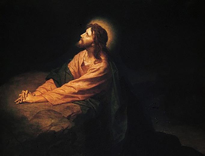 """Heinrich Hofmann, """"Christ in Gethsemane,"""" 1886"""