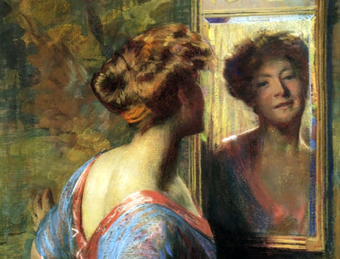 "Thomas Pollock Anshutz, ""A Passing Glance"", ca. 1900"