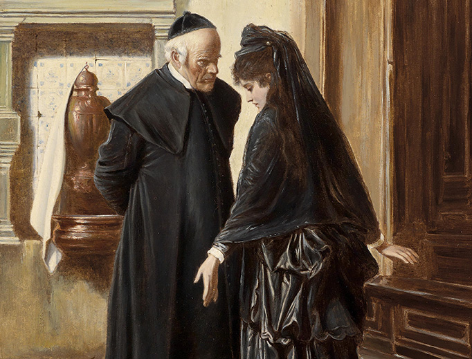 """Ludwig Passini, """"Ein ernstes Gespräch"""", before 1903"""