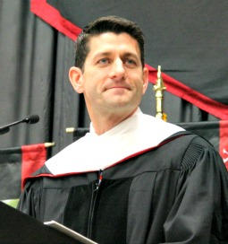 Rep. Paul Ryan speaks May 11 at Benedictine College.