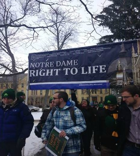 Prevented from going to Washington for the March for Life because of Storm Jonas, the Notre Dame Right to Life organization has Mass and a rally on campus on Jan. 22.