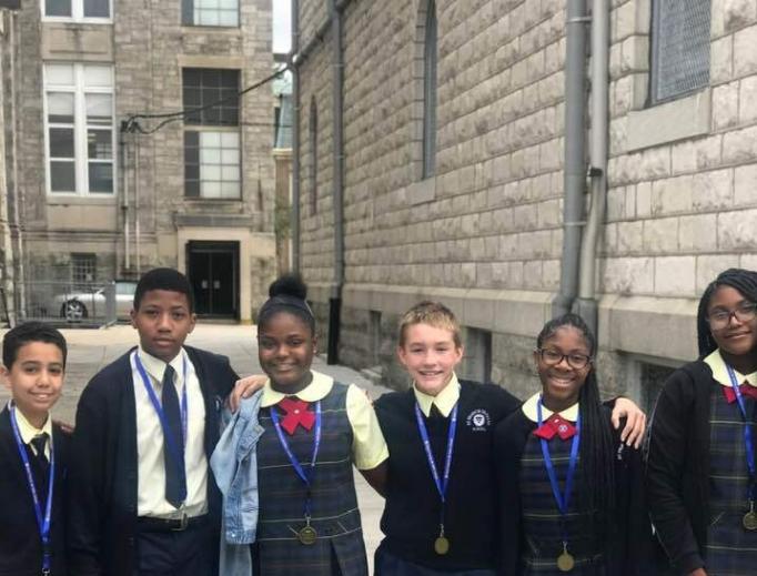 Students at St. Francis de Sales Catholic School in Philadelphia, Pa.