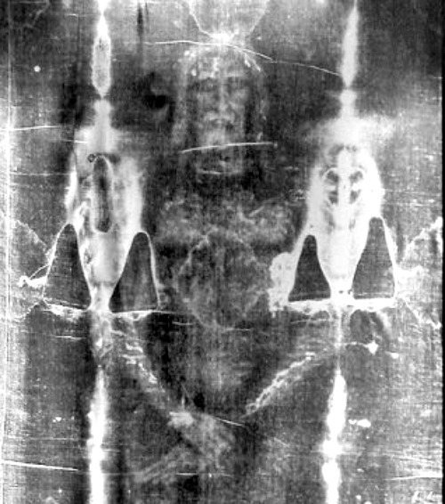 Negative image of the Shroud of Turin