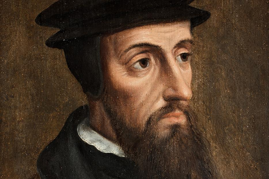 "Anonymous, ""Portrait of John Calvin,"" c. 1550"
