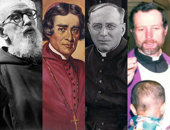 L TO R: Blessed Solanus Casey, Venerable Frederic Baraga, Father Thomas Price, Blessed Stanley Rother
