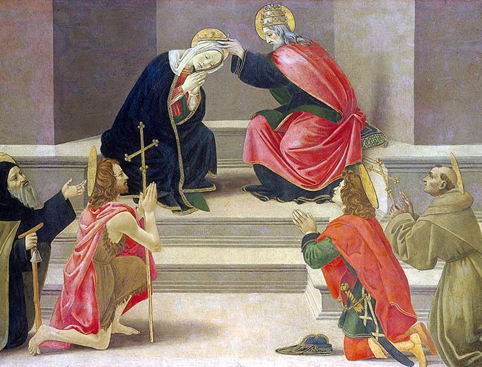 "Sandro Botticelli (1445-1510), ""The Coronation of the Virgin"""