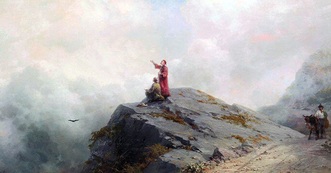 "Ilya Repin (1844-1930), ""Dante Shows an Artist Some Unusual Clouds"""