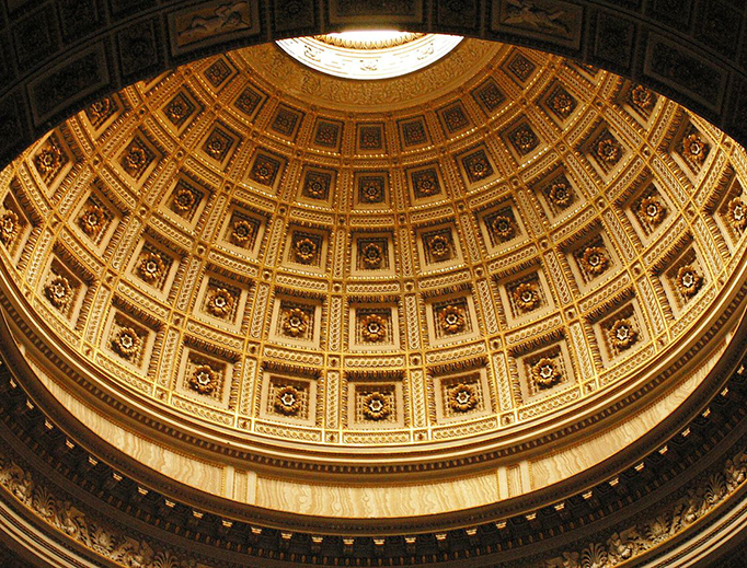 The cupola of the Pantheon in Rome