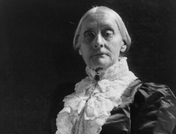 American civil rights leader Susan B. Anthony (1820-1906) in a photo taken by Frances Benjamin Johnston around 1900.