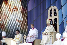 Pope Benedict XVI leads Mass and the beatification of Cardinal John Henry Newman Sept. 19 at Cofton Park in Birmingham, England.