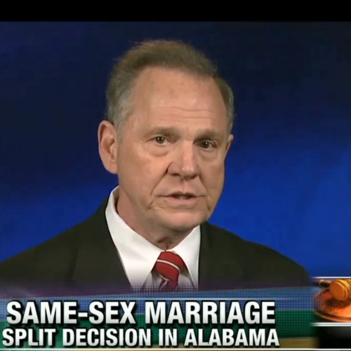 Alabama Chief Justice Roy Moore appears on Fox News Sunday on Feb. 15.