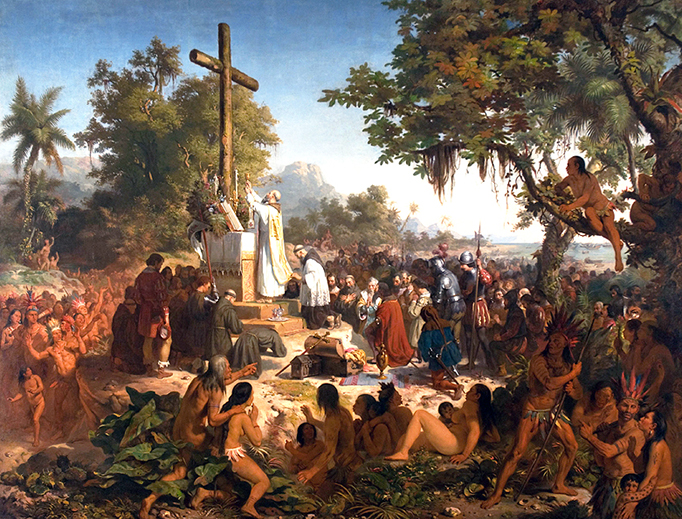 """Victor Meirelles (1832–1903), """"The First Mass in Brazil"""""""