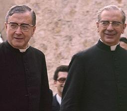 St. Josemaría Escrivá (l) with Bishop Alvaro del Portillo