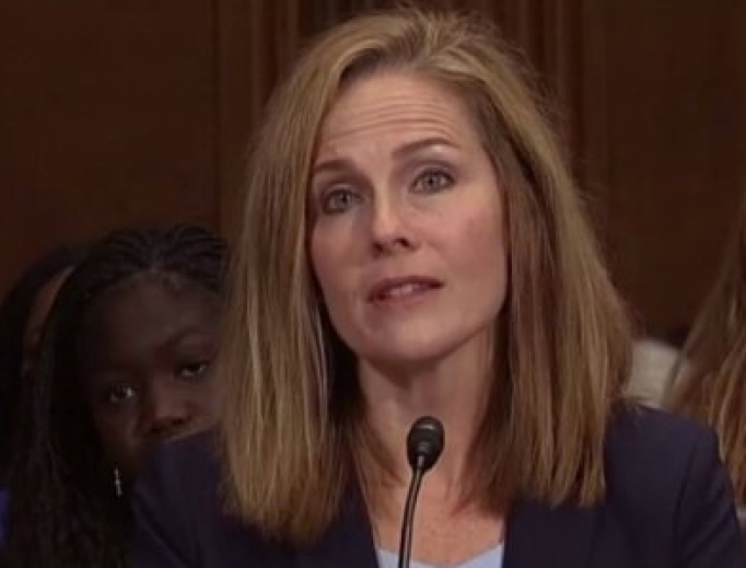 Amy Coney Barrett at the Sept. 6 hearing.