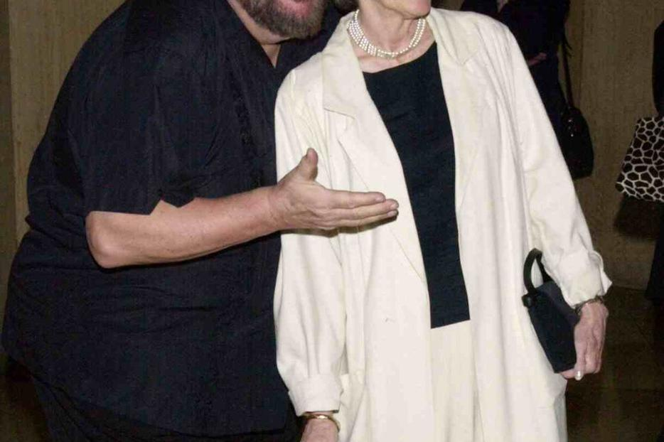 Dom DeLuise and his wife Carol Arthur in 2001.