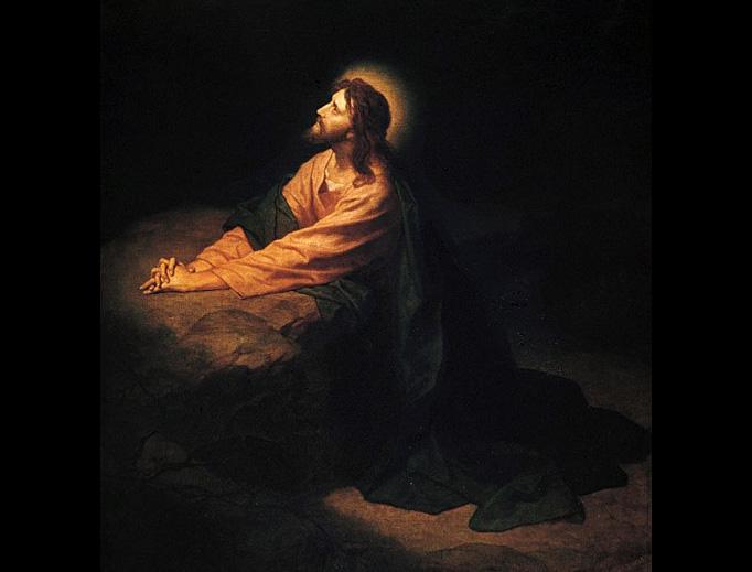 """Heinrich Hofmann, """"Christ in Gethsemane"""", 1886"""