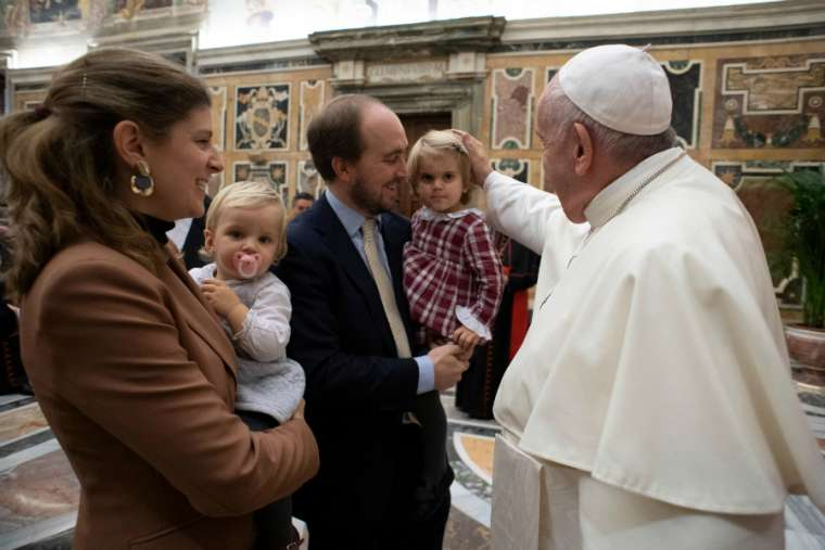 Pope Francis meets staff of the Vatican Dicastery for Laity, Family and Life Nov. 16/