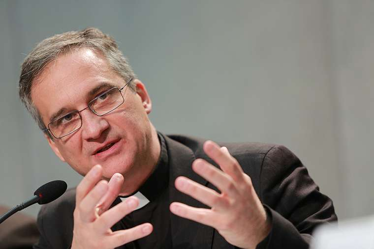 Monsignor Dario Viganò, prefect of the Vatican Secretariat for Communication