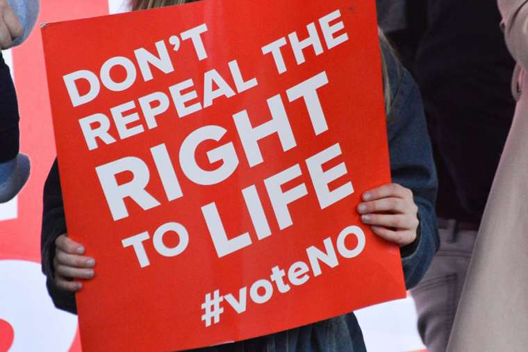 Sign from the 'Save 8 Rally' in Ireland March 10.