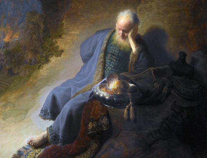 "Rembrandt van Rijn, ""Jeremiah Lamenting the Destruction of Jerusalem,"" 1630"