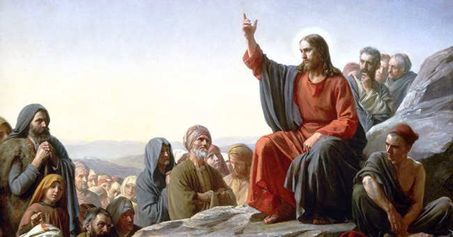 "Carl Heinrich Bloch (1834-1890), ""The Sermon on the Mount"""