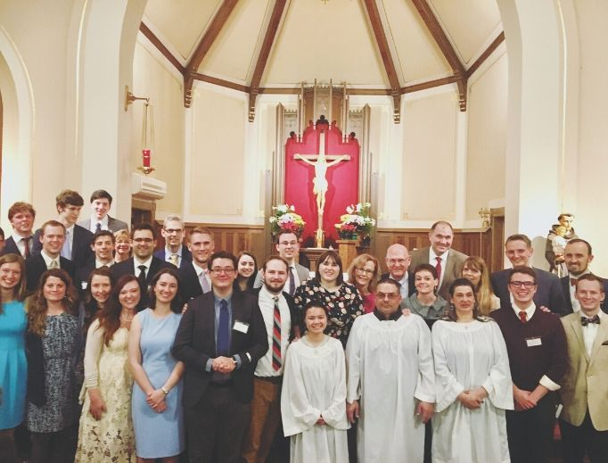 Last year's converts at the Easter vigil 2019 at St. Anthony Catholic Church in Hillsdale, Michigan, attest to the faith-affirming experience of many students at Hillsdale College.