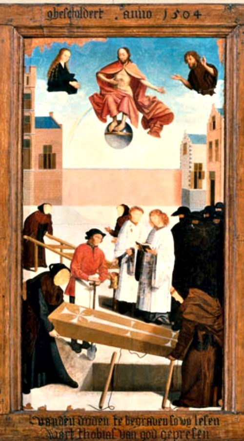 Detail 'The Works of Mercy' (1504) by The Master of Alkmaar