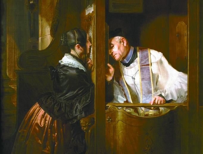Giuseppe Molteni (1800-1867), The Confession