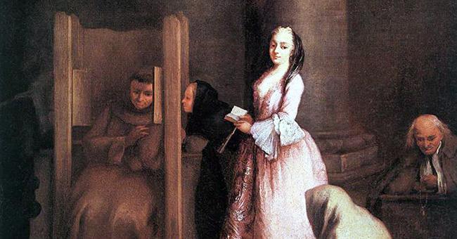 "Pietro Longhi (1702-1785), ""The Confession"""