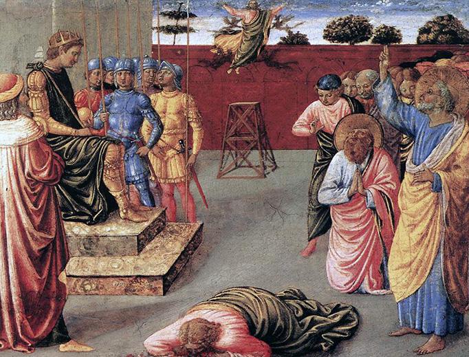 "Benozzo Gozzoli, ""The Fall of Simon Magus"", c. 1461"