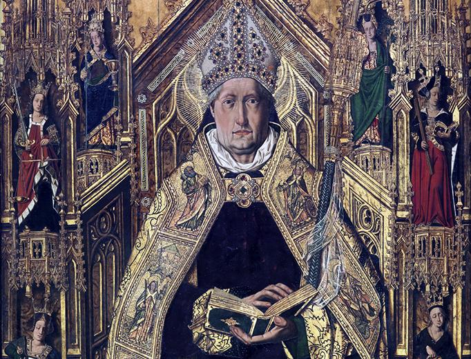 """Bartolomé Bermejo (1440-1500), """"Santo Domingo de Silos"""""""
