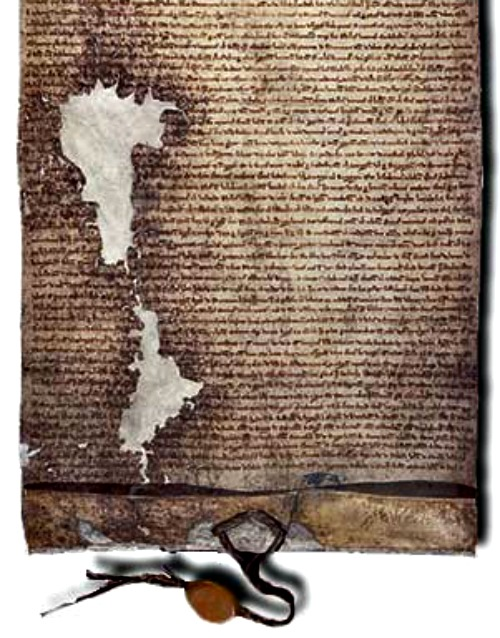 Detail of the 1225 version of the Magna Carta, which reflects the principle of subisidiarity.