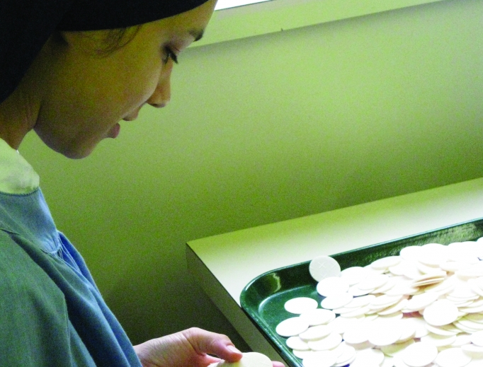 Making altar bread is a labor of love, including for the sisters at the Benedictine Monastery of the Immaculate Heart of Mary, Benedictine Sisters of Perpetual Adoration and the Monastery of the Sacred Passion.