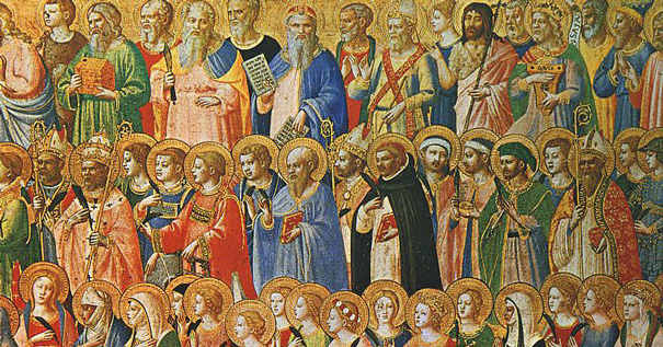 The Forerunners of Christ with Saints and Martyrs (about 1423-24). Tempera on wood, National Gallery, London. Public Domain from Wikimedia Commons.