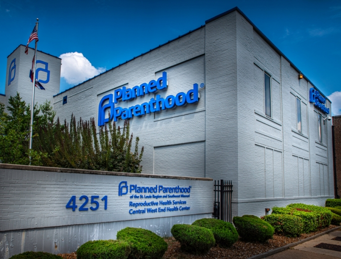 The exterior of Planned Parenthood is shown in St. Louis.