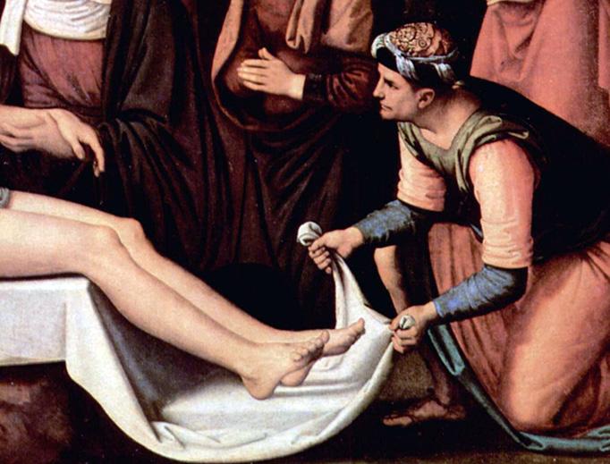 "Pietro Perugino, ""The Lamentation of Christ"" (detail), 1495"
