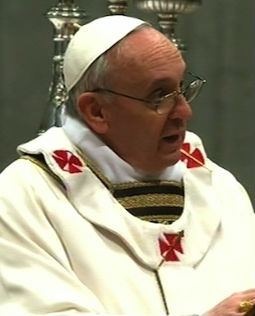 Pope Francis in St. Peter's Basilica